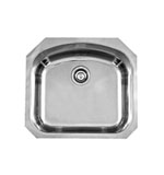 Large D Shaped Undermount Bowl